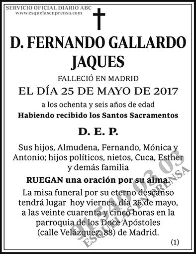 Fernando Gallardo Jaques
